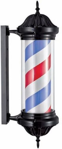 Barber Shop Pole Light  – Black