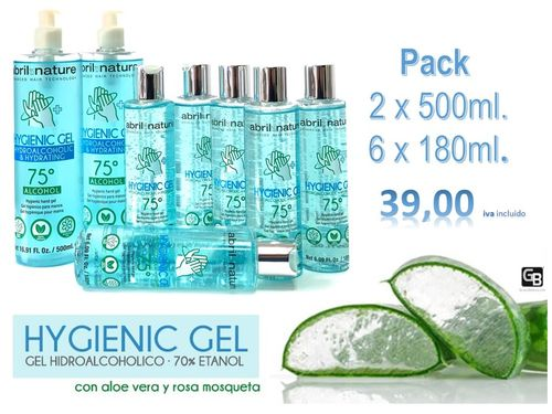 Gel desinfectante Hidroalcoholico abril et nature Pack