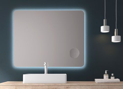 Led light mirror Maple