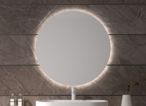 Back led light mirror Lime